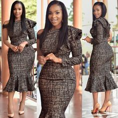 70 Latest Kitenge Styles for Work & Church fashion 2019 African Prom Dresses, African Dresses For Women, African Attire, African Wear, African Women, African Style, African Fashion Ankara, Latest African Fashion Dresses, African Print Fashion