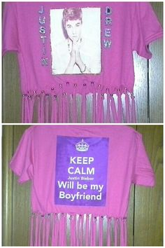 Created this special Justin Bieber shirt for her concert