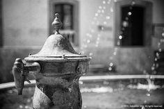 "Main Square or ""Plaza Mayor"". Santisteban del Puerto, Spain.  #travelphotography #blackandwhite #spain #andalusia #andalucia #jaen #santisteban #santistebandelpuerto #fountain #travel #tourism #europe #mediterranean #south"