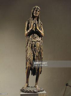 Florence, Museo Dell'Opera Di Santa Maria Del Fiore (Museo Dell'Opera Delduomo, Cathedral Museum, Art Museum) Penitent Magdalene, 1453-1455, by Donatello (ca 1386-1466), wooden statue.