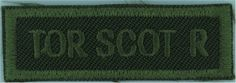 Tor Scot R (Toronto Scottish Regiment - Canada) Green On Olive Non-British Army shoulder title for sale British Army, Commonwealth, Armed Forces, Toronto, Empire, Canada, Military, Shoulder, Special Forces
