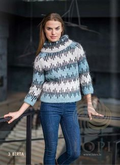 Icelandic Products Birta Women Wool Sweater Blue Tailor Made - NordicStore