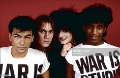 Boy George and Culture Club during photo shoot, Beverly Hills,. Culture Club, Boy George, Beverly Hills, Thompson Twins, Paul Young, Cyndi Lauper, New Romantics, Bbc Broadcast, Creative Video