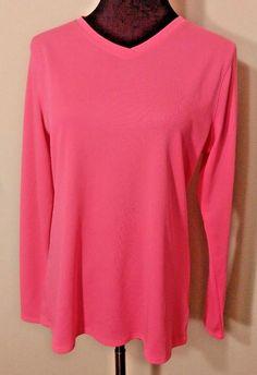 New Balance Women Size L Shirt Pink Endurance Tec Athletic Moisture Wick Workout #NewBalance #LongSleeve