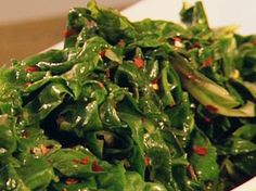 Spicy Swiss Chard from FoodNetwork.com - I added sauted onions too and it was very good!