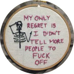 The weekend is in sight, now we just DGAF Photos) Cross Stitching, Cross Stitch Embroidery, Cross Stitch Patterns, Marla Singer, Sad Girl, E Cards, Regrets, Needlepoint, Just In Case