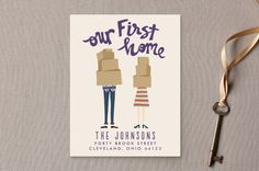 Our First Home Moving Announcements by Drift Design Co. at minted.com