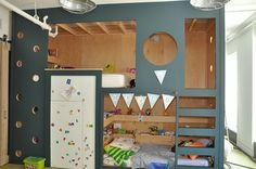Custom Millwork bunk-bed resembling a playhouse