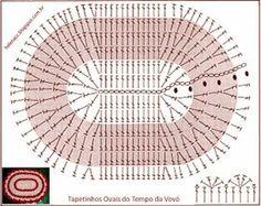 Patron pattern Alfombrilla crochet xxl