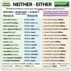 'Neither', 'Either'.