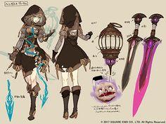 All Games Delta: Yoko Taro's New Game SINoALICE Character Art ~ Smartphones