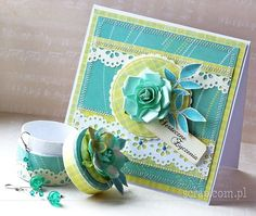 zestaw upominkowy Flower Cards, Decorative Boxes, Scrapbook, Flowers, Home Decor, Decoration Home, Room Decor, Scrapbooking, Royal Icing Flowers