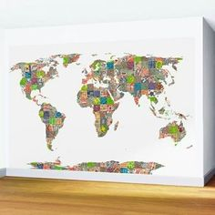 Wall Murals, Clouds, Map, Graphic Design, Wall Paintings, Cards, Maps, Mural Painting, Cloud