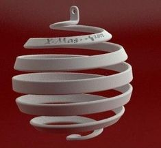 3D printed Christmas ornament by Luigi Vaghi Maybe something for 3D Printer Chat?