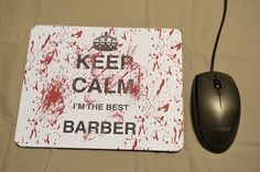 MOUSE MAT Mouse Pad Keep Calm Barber Gift Sublimation Printed Desk Decor PC Computer Accessory Graduation Qualified Birthday New Job Gift by MillHillSublimation on Etsy