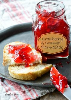 cranberry and orange marmalade perfect for brekkie on the big day! www.larderlove.com