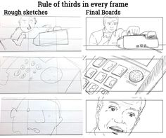 Rule of thirds in every frame.    _   #sketch #sketches #sketching #handsketch #handdrawn #handdrawing #blackandwhite #storyboard #artist #storyboarding #storyboards #drawing #drawings #films #filmdirector #filmdirectors #director #producer #producers #filmproducer #filmcrew #filmmaking #filmmaker #preproduction #filmproduction #illustrator #illustration #linedrawing