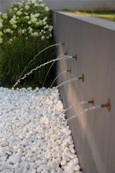 Nowoczesne elementy wodne w ogrodzie