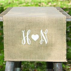 Embroidered+Burlap+Table+Runner