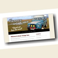 Thrilled to help out Gower Vintage Vans set up their new website. Holiday van/4x4 hire with a twist! For more info visit www.gowervintagevans.co.uk #Website #Design #Local #Gower #Vintage #Van #4x4 #Holiday #Hire #Rental #Ford #Transit #Landrover #Defender #Camping #Wales #UK #Coast #Countryside   www.awgraphics.co.uk/awgraphics/gower-vintage-vans-website