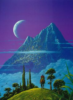 Tim White (born 4 April 1952 in Erith, Kent) is a British painter, best known for his science fiction and fantasy book covers, record covers and magazine i. Fantasy Places, Sci Fi Fantasy, Fantasy World, Aliens, Art Visionnaire, 70s Sci Fi Art, Alien Planet, Classic Sci Fi, Futuristic Art
