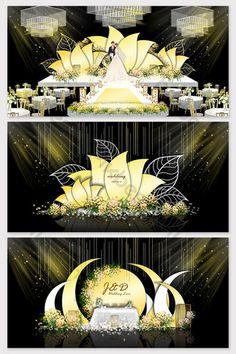 Modern champagne flower wedding effect picture Wedding Hall Decorations, Wedding Reception Backdrop, Marquee Wedding, Champagne Wedding Colors, Champagne Flowers, Wedding Gate, Stage Set Design, Drag, 3d Models