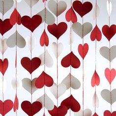 paper heart valentine gardland home decor