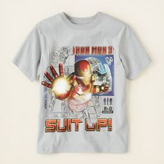 boy - graphic tees - licensed - Iron Man suit up graphic tee | Children's Clothing | Kids Clothes | The Children's Place