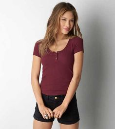 AEO Soft & Sexy Baby Henley - Buy One Get One 50% Off + Free Shipping