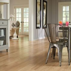 Shop allen + roth 5.98-in W x 3.95-ft L Golden Butterscotch Embossed Laminate Wood Planks at Lowes.com