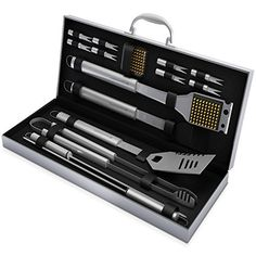 #8: BBQ Grill Tools Set with 16 Barbecue Accessories  Stainless Steel Utensils with Aluminium Case- Men Complete Outdoor Grilling Kit for Dad This is a top choice among the best online products in Home Garden  category in USA. Click below to see its Availability and Price in YOUR country.
