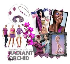 #RadiantOrchid #Pantone Mood Board Inspiration for this poppy/chic color http://blog.styleshack.com/monday-mood-board/