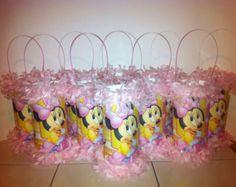 Favor Bebé Minnie Mouse primera Cumpleaños Mini Partido Piñata / Bolsa de sorpresas