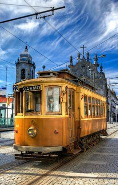 Trams, Porto , Portugal   http://www.travelandtransitions.com/destinations/destination-advice/europe/