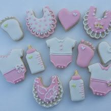 One dozen mini baby themed sugar cookies by jaynessugarshack, $10.75