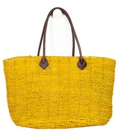 Yellow handmade tote bag from hearts.com to support artisans around the world with fair wages.