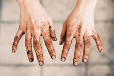 I love my dirty gardening hands...