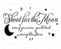love this one.....have it in a frame in my daughters room!!! Moon Quotes, Star Quotes, Words Quotes, Life Quotes, Daughters Room, To My Daughter, Kids Wall Decals, Wall Stickers, Vinyl Wall Quotes
