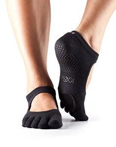 ToeSox Womens Plie Full Toe Grip for Yoga Pilates Barre Dance Toe Socks With LEATHER PAD Black Large >>> You can get additional details at the image link.Note:It is affiliate link to Amazon. #red