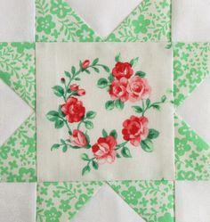 FWQAL 56 - Red White Green Flower Sugar Lecien