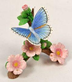 Lenox Porcelain Adonis Butterfly Flower Figurine Statue