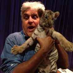 Jay and a tiger cub backstage! #TonightShow