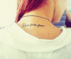 "Dum Spiro Spero ""While i breathe, i hope"""