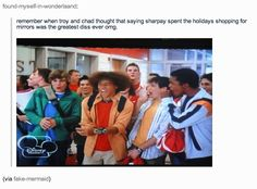 hahahahahhaha hsm <> looks like it is supper funny now but i never thought of that when i was 8