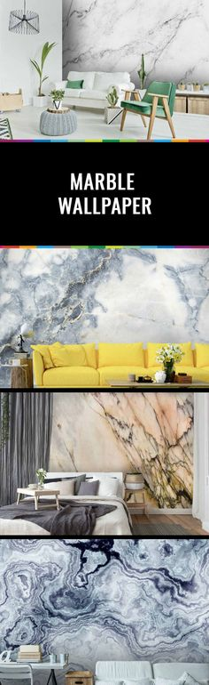 Marble is one of the season's biggest trends and we can't get enough! Create the look of a stunning marble feature wall in your home with this beautiful collection of marble wallpaper. Available worldwide from wallsauce.com in three materials including a self-adhesive, removable peel & stick material. Take a look, we won't tell... Source: www.wallsauce.com
