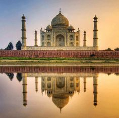 Taj Mahal... an epitome of Love and Beauty!    #MakaanTrivia: Taj Mahal architecture style includes Indian, Persian and Islamic. It is entirely made of best quality marbles from around the world including Rajasthan.    Click Like and Share this...