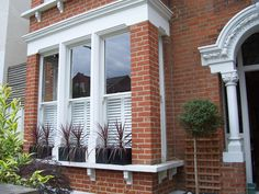 The UK's best & affordable shutters. Our handcrafted plantation shutters are made to measure, stylish & come in custom colours for your windows. Window Shutters Uk, Shutters With Curtains, Kitchen Shutters, Bedroom Shutters, Interior Shutters, Wood Shutters, Bathroom Window Dressing, Cafe Style Shutters, Baby Room Neutral