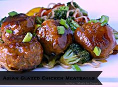 Asian Glazed Chicken Meatballs