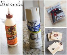 Materials for a wedding centerpiece
