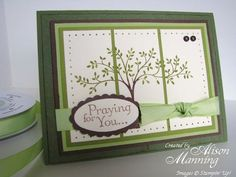Stampin' Up!'s Thoughts and Prayers stamp set - tri-panel card - bjl